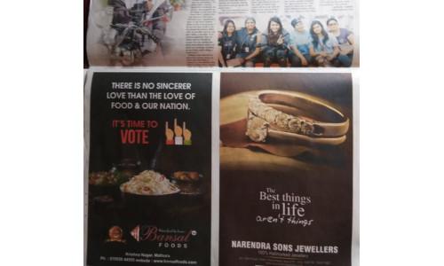 Ankit Bansal - Bansal Foods - Election 2019 TOI Advert