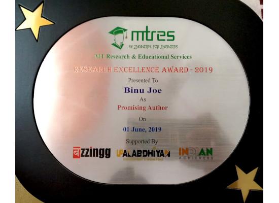 Binu Joe - MTRES REA 2019 Memento