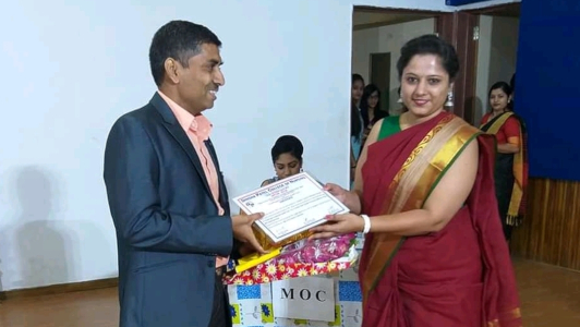 Binu Joe - felicitation on delivering expert talk