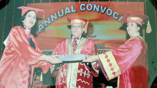 Dhiraj Sud - Annual Convocation at SLIET as Dean Academics