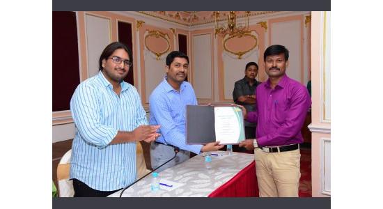 Dr K Pattabiraman - Award for Highest Paper Publication from Arunai International Research Foundation in Chennai 2017