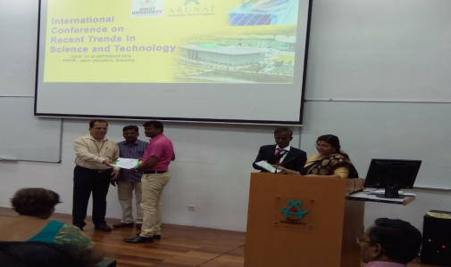 Dr K Pattabiraman - Award for Outstanding Research Supervisor for the year 2018 received in Malaysia