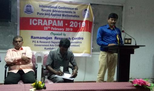 Dr K Pattabiraman - Organizer of International Conference in Mathematics