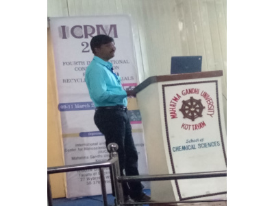 Dr K Pattabiraman - Resource Person for ICRM 2018