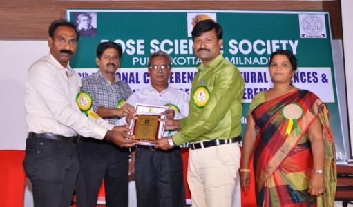 Dr K Pattabiraman - Srinivasa Ramanujan Best Young Scientist Award for the year 2018