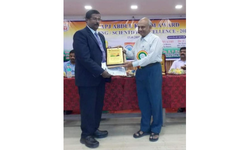 Dr T Subramani - Dr APJ Abdul Kalam Award for Life time Contribution in Teaching, 2018