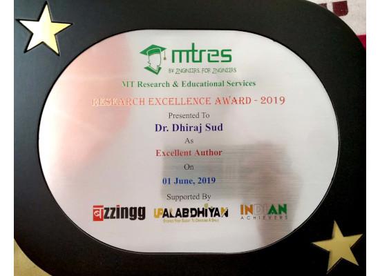 Dr. Dhiraj Sud - MTRES REA 2019 Memento