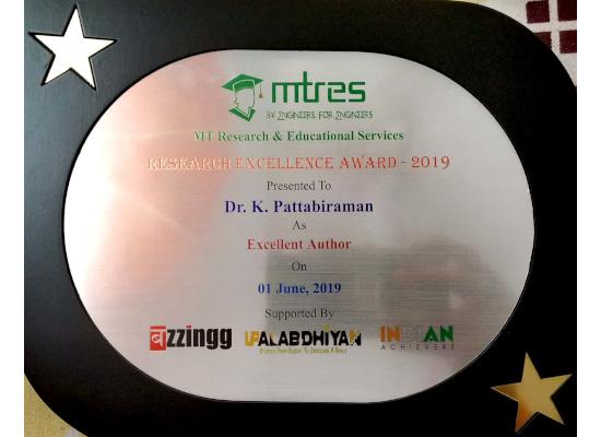 Dr. K. Pattabiraman -MTRES REA 2019 Memento