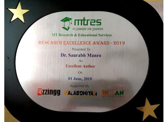 Dr. Saurabh Manro -MTRES REA 2019 Memento
