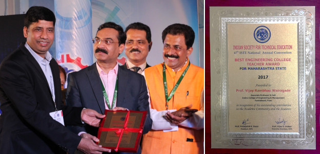 Vijay Wairagade - ISTE Best Engineering College Teacher Award
