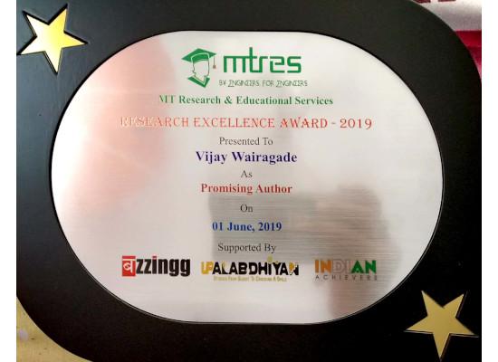 Vijay Wairagade -MTRES REA 2019 Memento