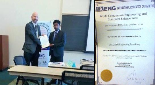 Dr Sushil Kumar Choudhary - IA Eng Paper Presentation Award 2016