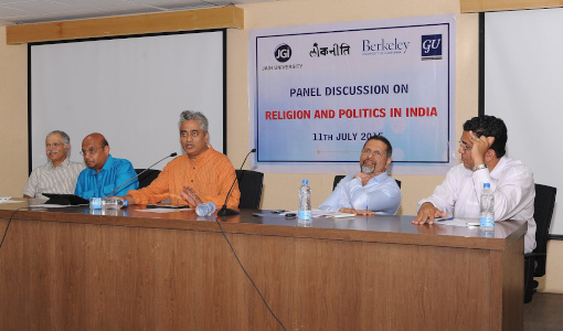 Dr Sandeep Shastri in a panel discussion with Rajdeep Sardesai and others