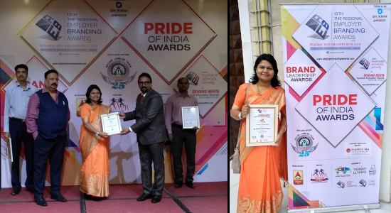 Dr Sandhya Khedekar - Dewang Mehta National Award for leadership in education Aug 2018