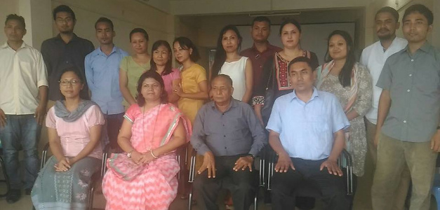 Dr Sandhya Khedekar with Agatha Sangma and others during her visit to Meghalaya as Education Advisor, Jun 2016