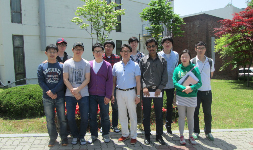 Dr Subhasis Roy with fellow researchers from Sungkyunkwan University, South Korea