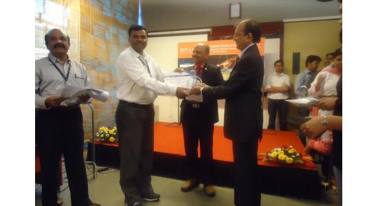 Nitin Mawale - Paper Presenter Award at by CSI Ahmedabad in 2011
