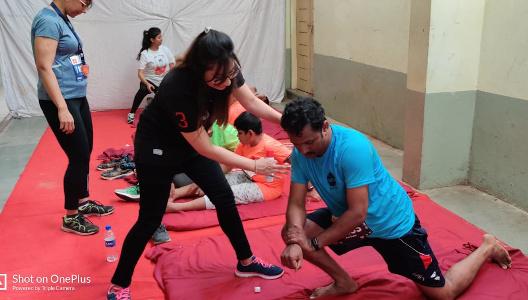 Mamta Biyani - Physiotherapy support for Ichalkaranji Half Marathon