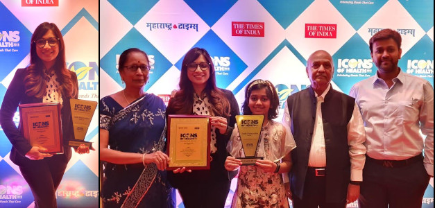 Mamta Biyani - Times of India Icons of Health Award 2019 - with family