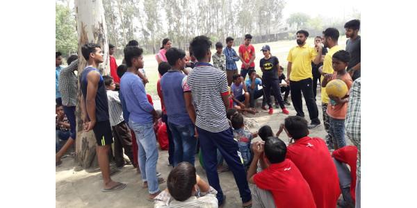 Dr Nitesh Kumar Jha - Physical Activity Program at Observation Home for Boys - Delhi